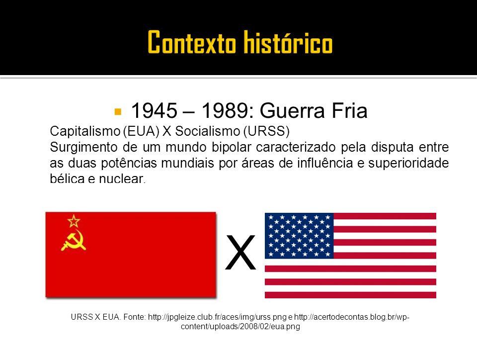 X Contexto histórico 1945 – 1989: Guerra Fria