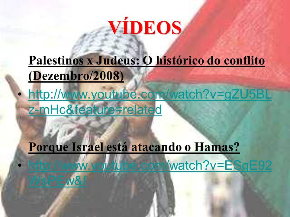 VÍDEOS Palestinos x Judeus: O histórico do conflito (Dezembro/2008)