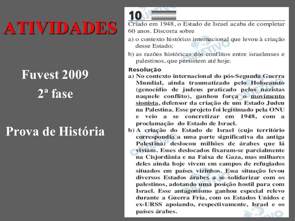 ATIVIDADES Fuvest 2009 2ª fase Prova de História