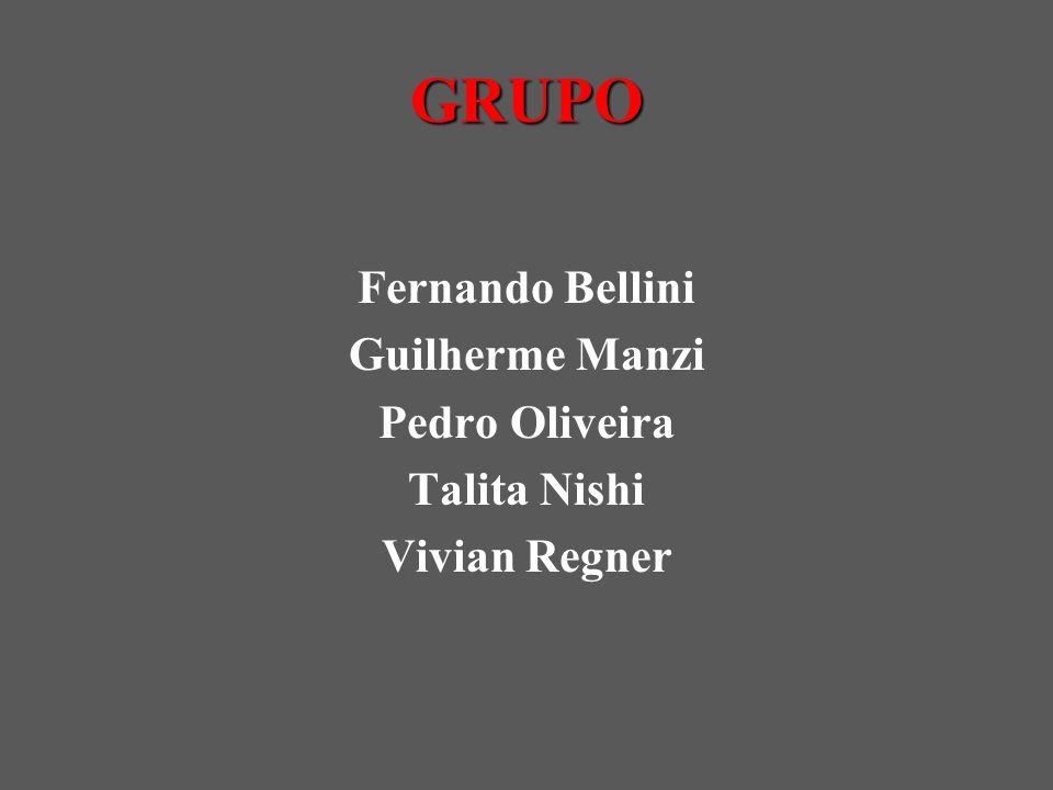 GRUPO Fernando Bellini Guilherme Manzi Pedro Oliveira Talita Nishi Vivian Regner