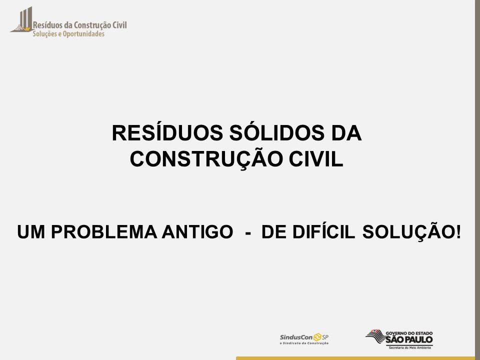 RESÍDUOS SÓLIDOS DA CONSTRUÇÃO CIVIL