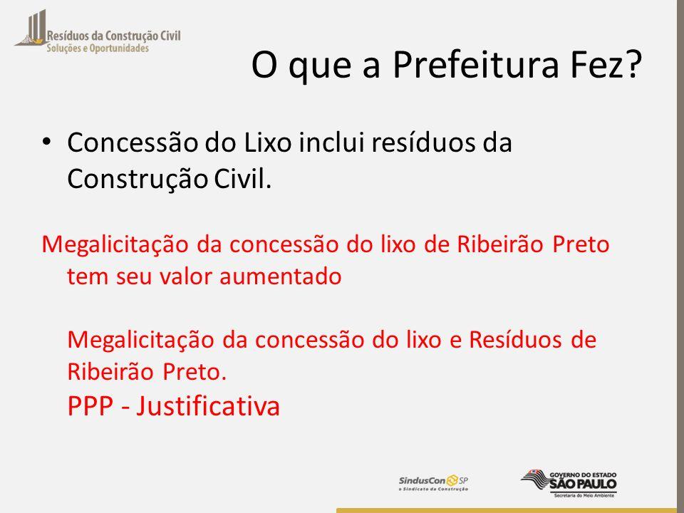 O que a Prefeitura Fez Concessão do Lixo inclui resíduos da Construção Civil.