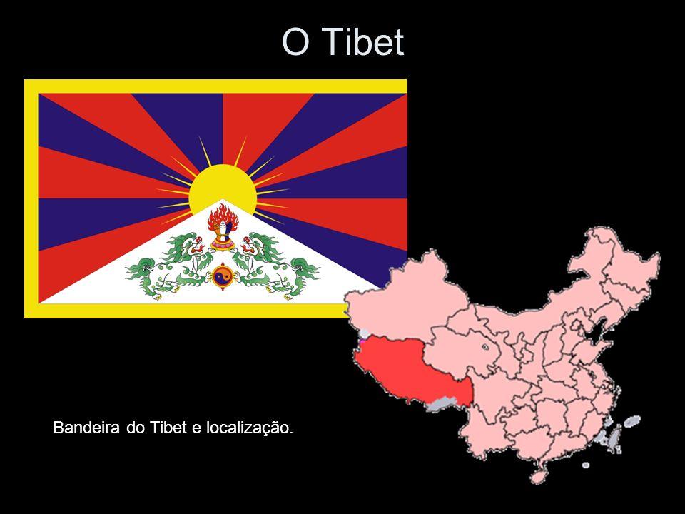 O Tibet Bandeira do Tibet e localização.