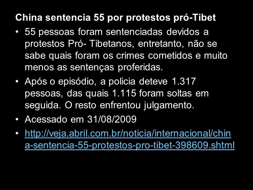China sentencia 55 por protestos pró-Tibet