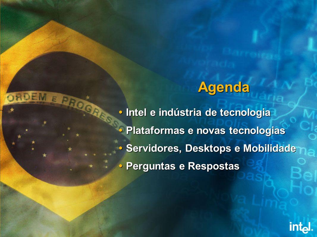 Agenda Intel e indústria de tecnologia Plataformas e novas tecnologias