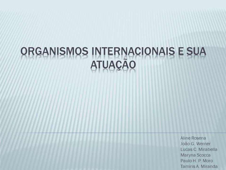ORGANISMOS INTERNACIONAIS E SUA ATUAÇÃO