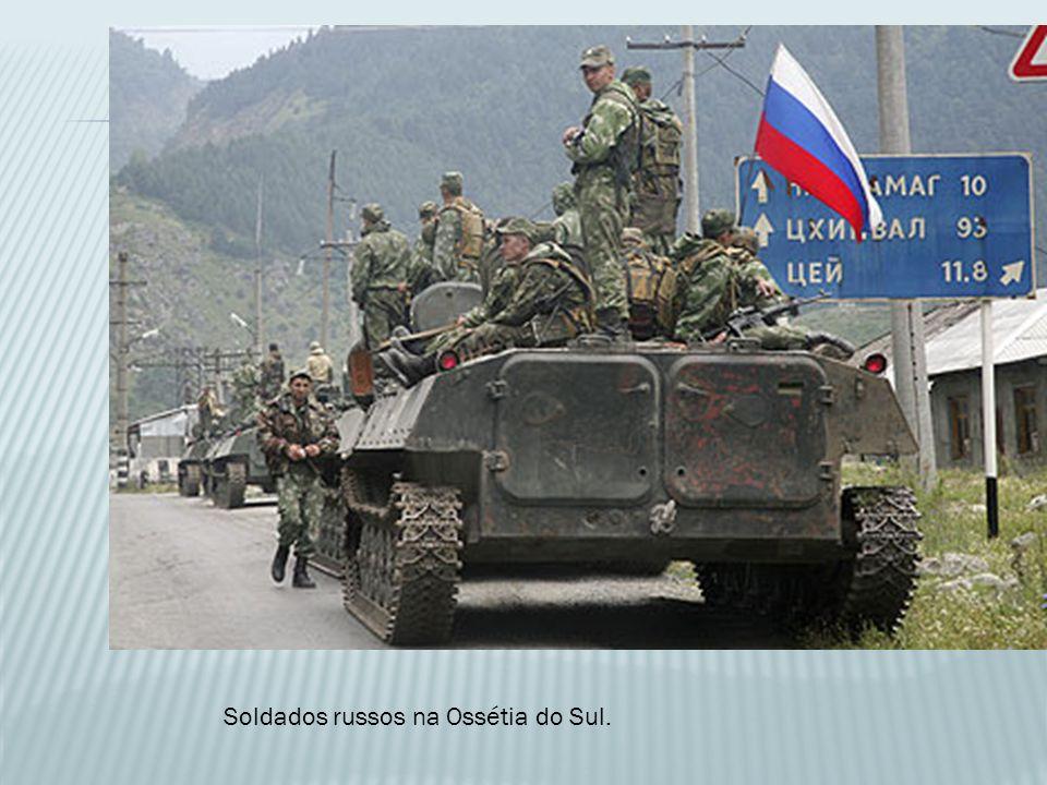 Soldados russos na Ossétia do Sul.