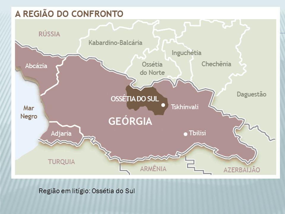 Região em litígio: Ossétia do Sul