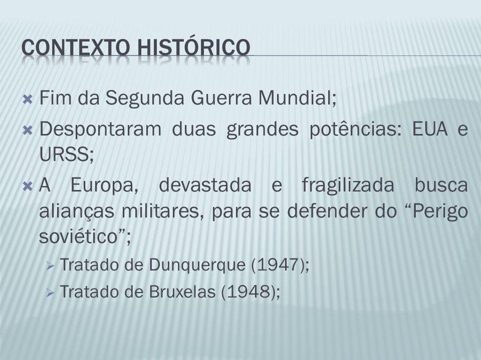 Contexto histórico Fim da Segunda Guerra Mundial;