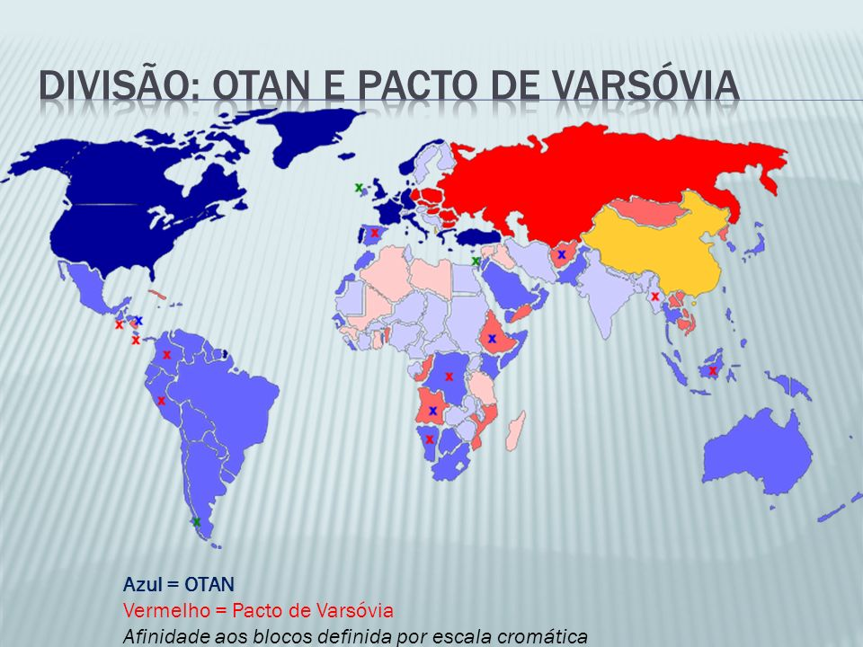 Divisão: otan e pacto de varsóvia