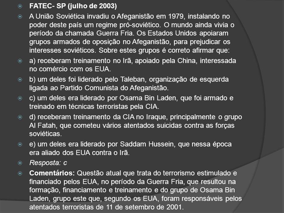 FATEC- SP (julho de 2003)