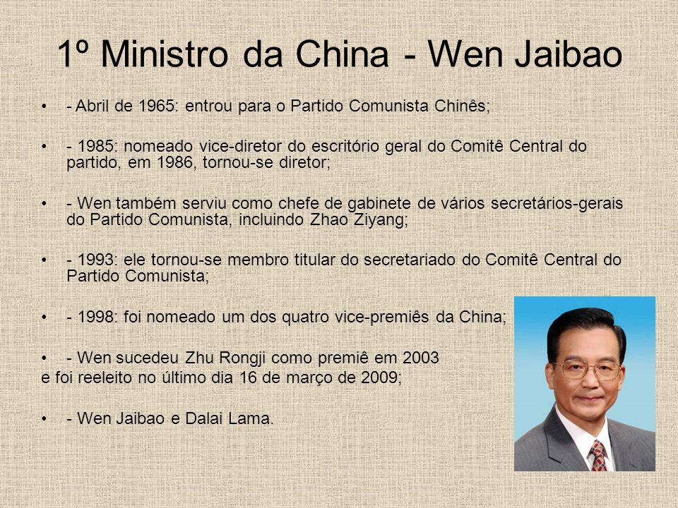 1º Ministro da China - Wen Jaibao
