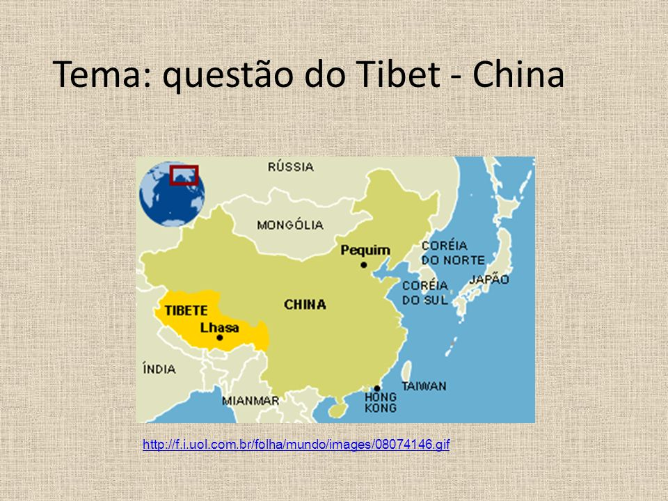 Tema: questão do Tibet - China