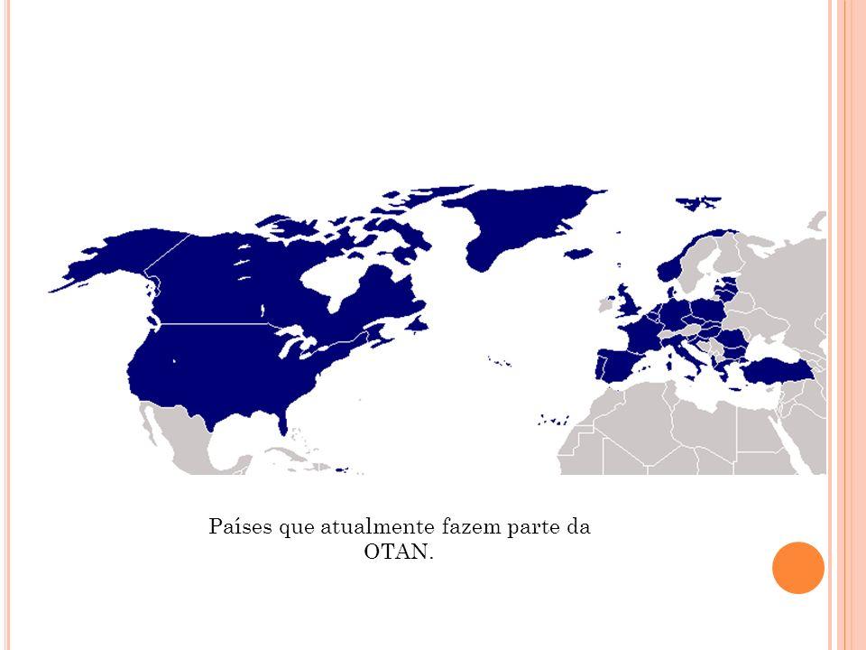 Países que atualmente fazem parte da OTAN.
