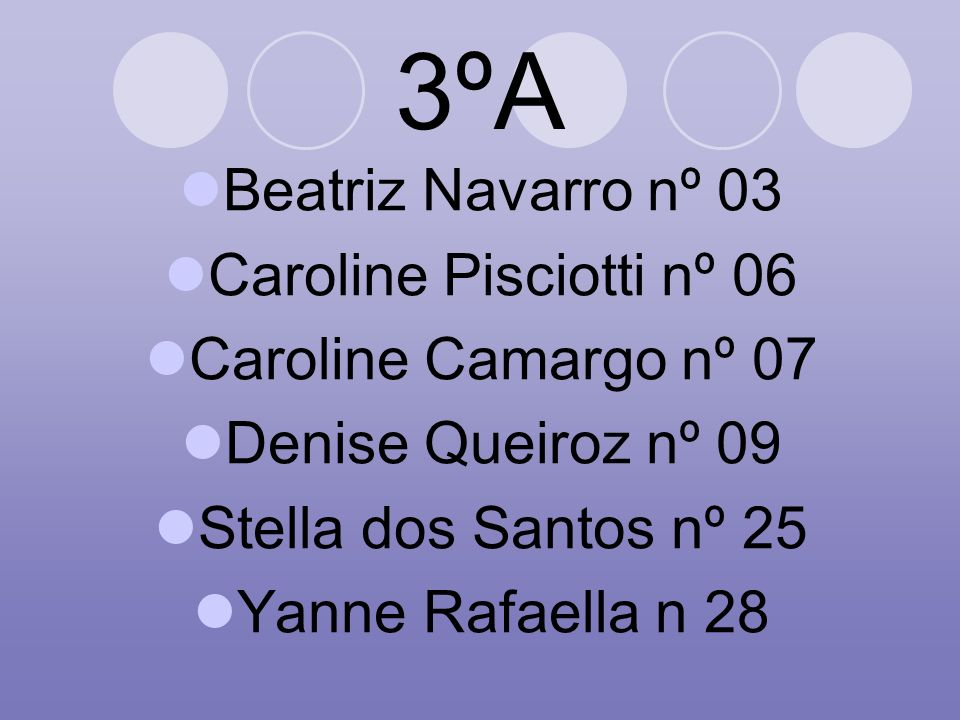 3ºA Beatriz Navarro nº 03 Caroline Pisciotti nº 06