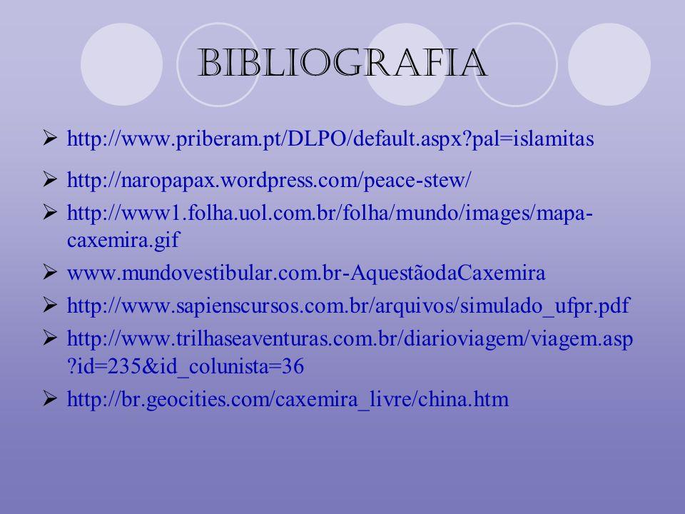 Bibliografia http://www.priberam.pt/DLPO/default.aspx pal=islamitas