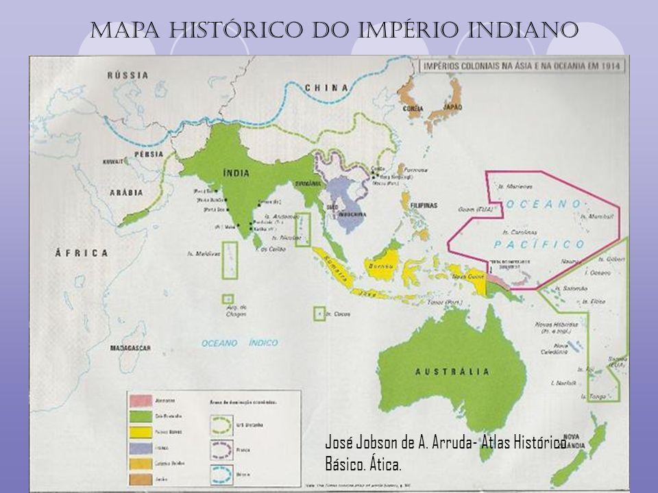 Mapa histórico do Império indiano