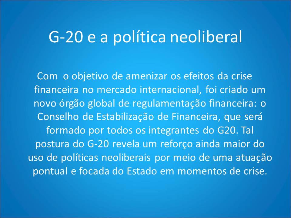 G-20 e a política neoliberal