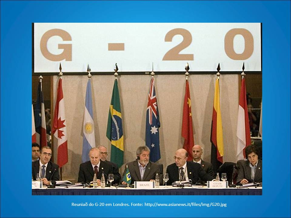 Reuniaõ do G-20 em Londres. Fonte: http://www. asianews