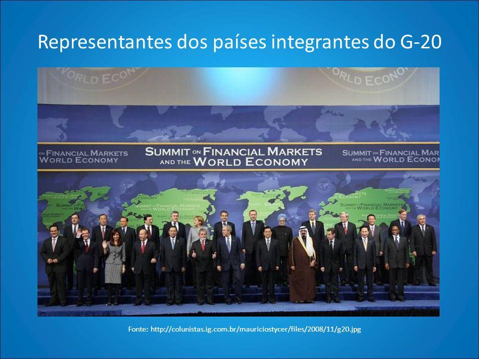 Representantes dos países integrantes do G-20