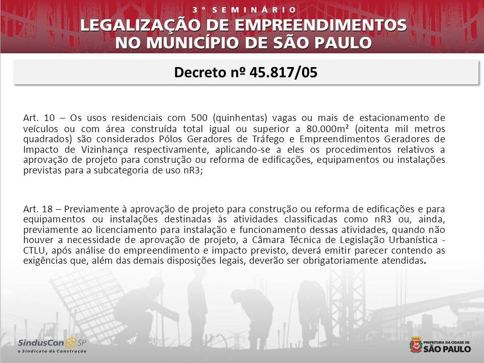 Decreto nº 45.817/05