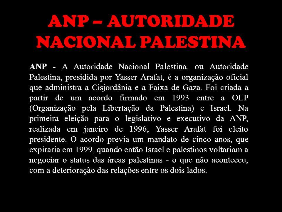 ANP – AUTORIDADE NACIONAL PALESTINA