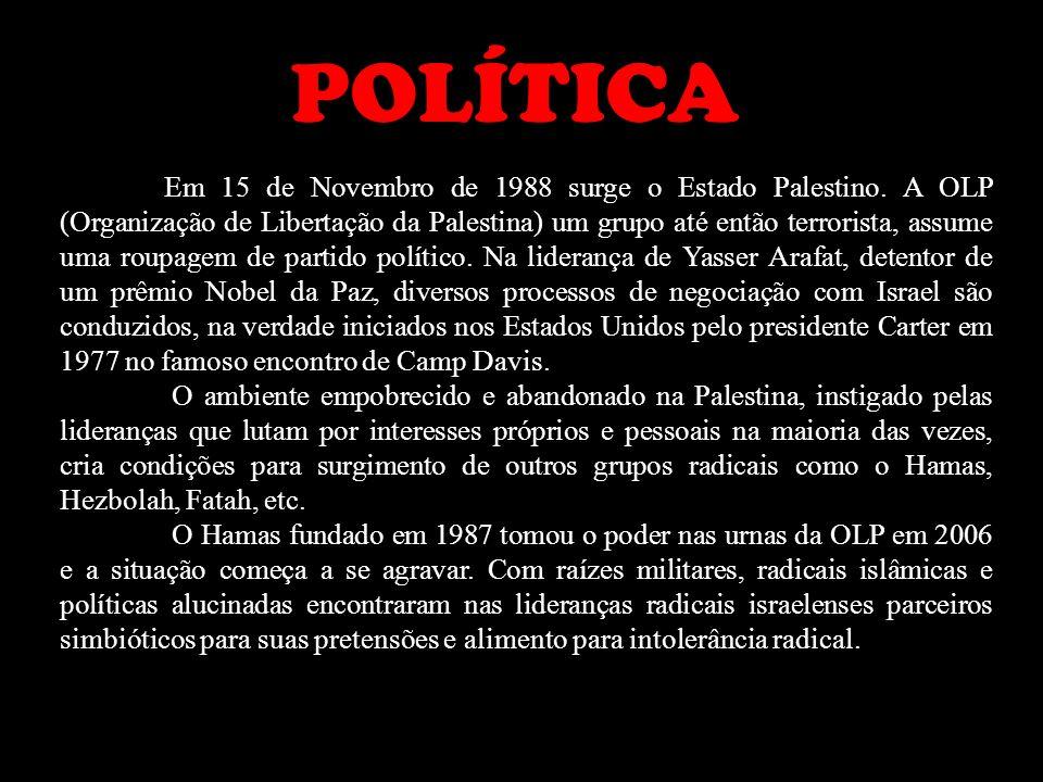 Em 15 de Novembro de 1988 surge o Estado Palestino