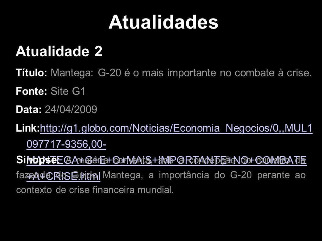 Atualidades Atualidade 2