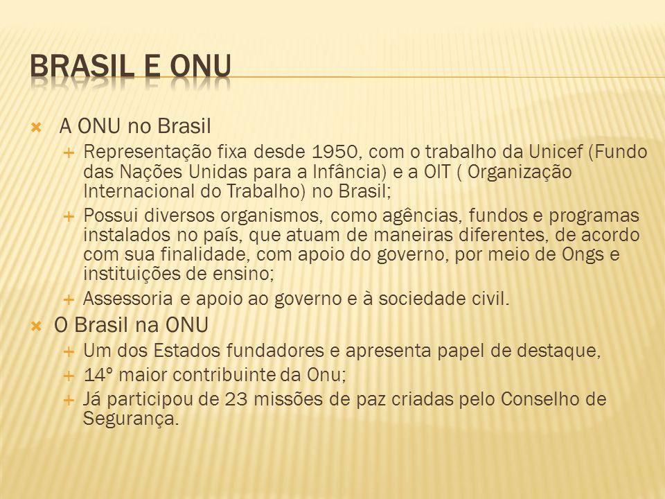 Brasil e onu A ONU no Brasil O Brasil na ONU