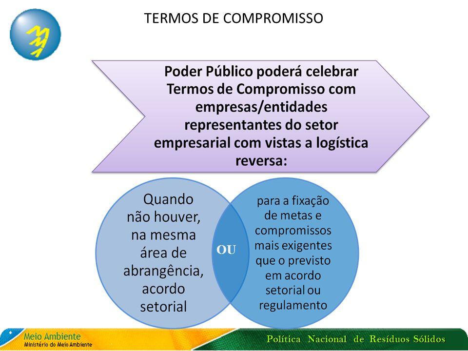 TERMOS DE COMPROMISSO OU