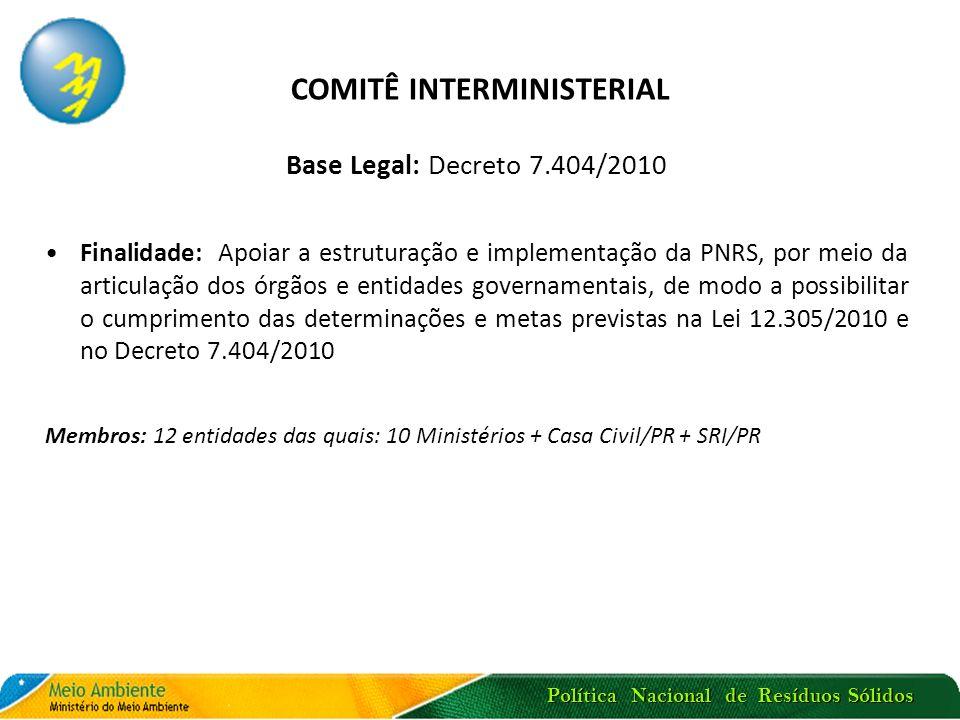 COMITÊ INTERMINISTERIAL