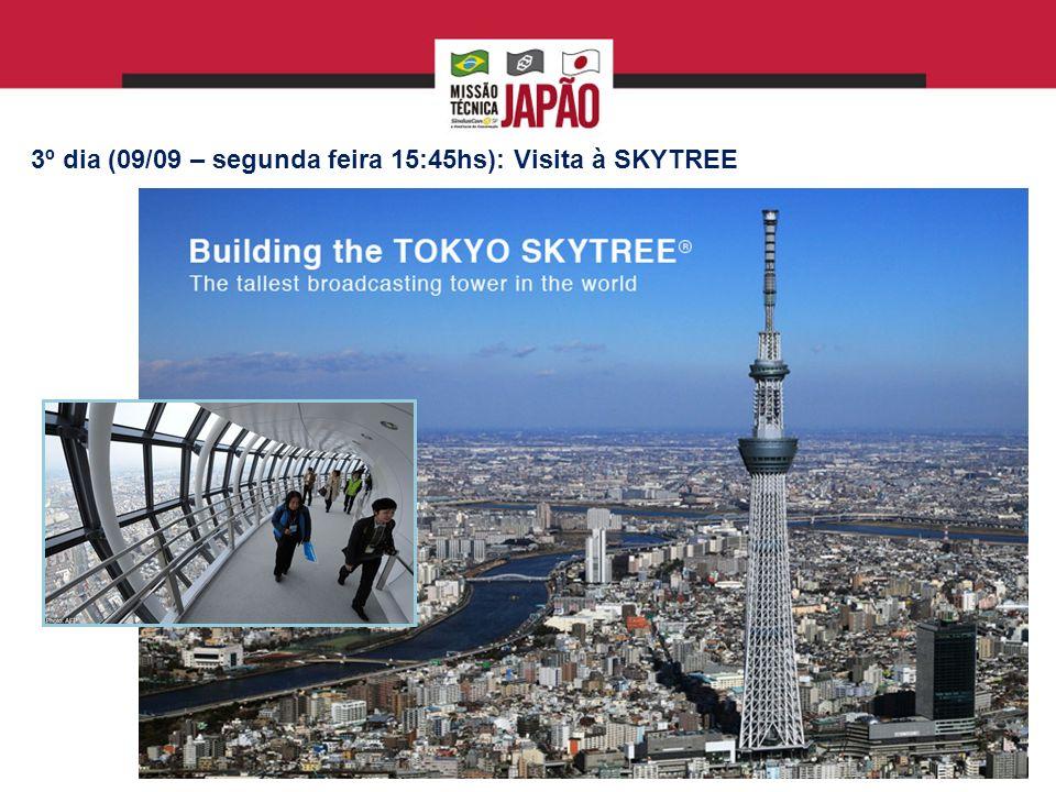 3º dia (09/09 – segunda feira 15:45hs): Visita à SKYTREE