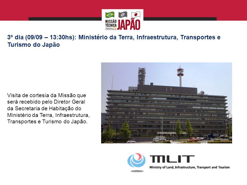 3º dia (09/09 – 13:30hs): Ministério da Terra, Infraestrutura, Transportes e Turismo do Japão
