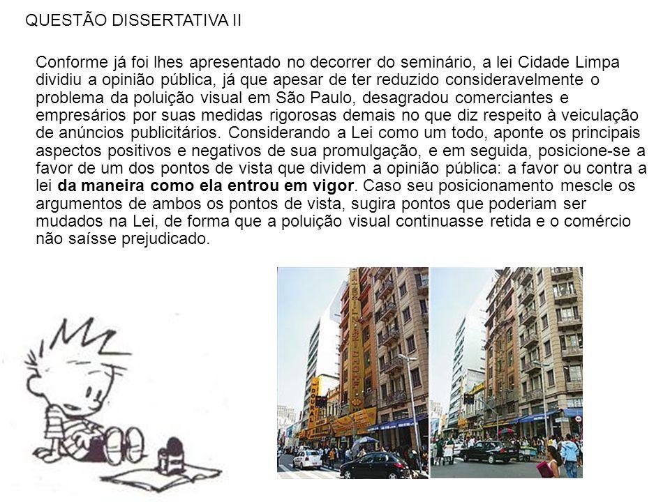 QUESTÃO DISSERTATIVA II