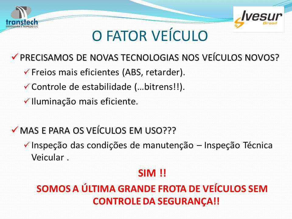 SOMOS A ÚLTIMA GRANDE FROTA DE VEÍCULOS SEM CONTROLE DA SEGURANÇA!!