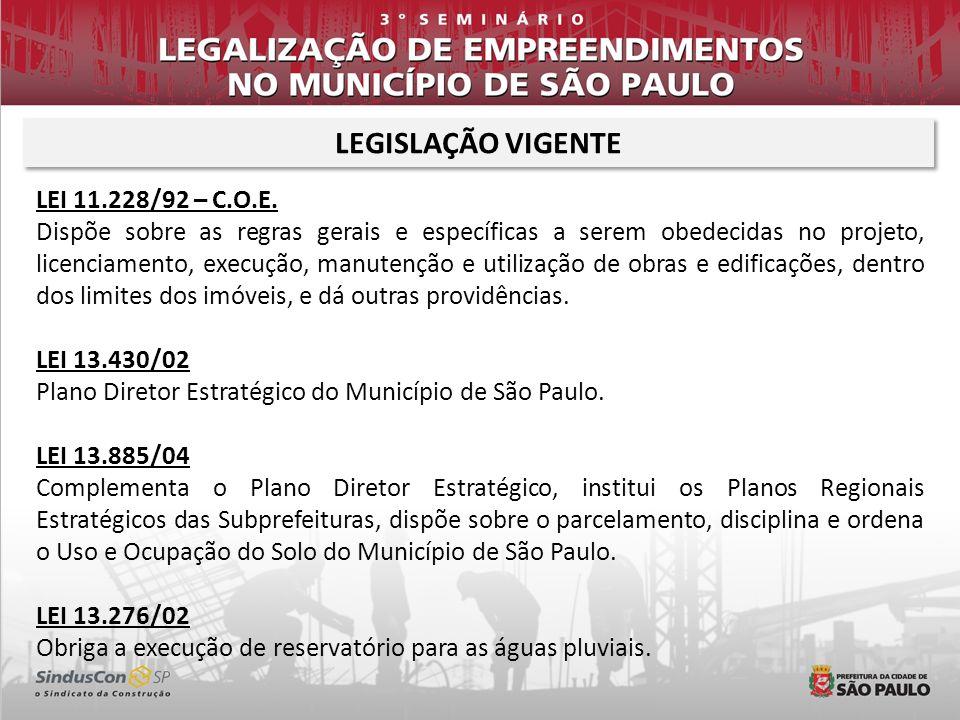 LEGISLAÇÃO VIGENTE LEI 11.228/92 – C.O.E.