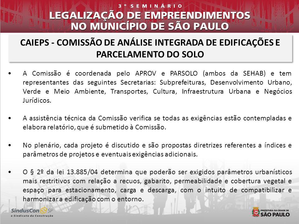 CAIEPS - COMISSÃO DE ANÁLISE INTEGRADA DE EDIFICAÇÕES E PARCELAMENTO DO SOLO