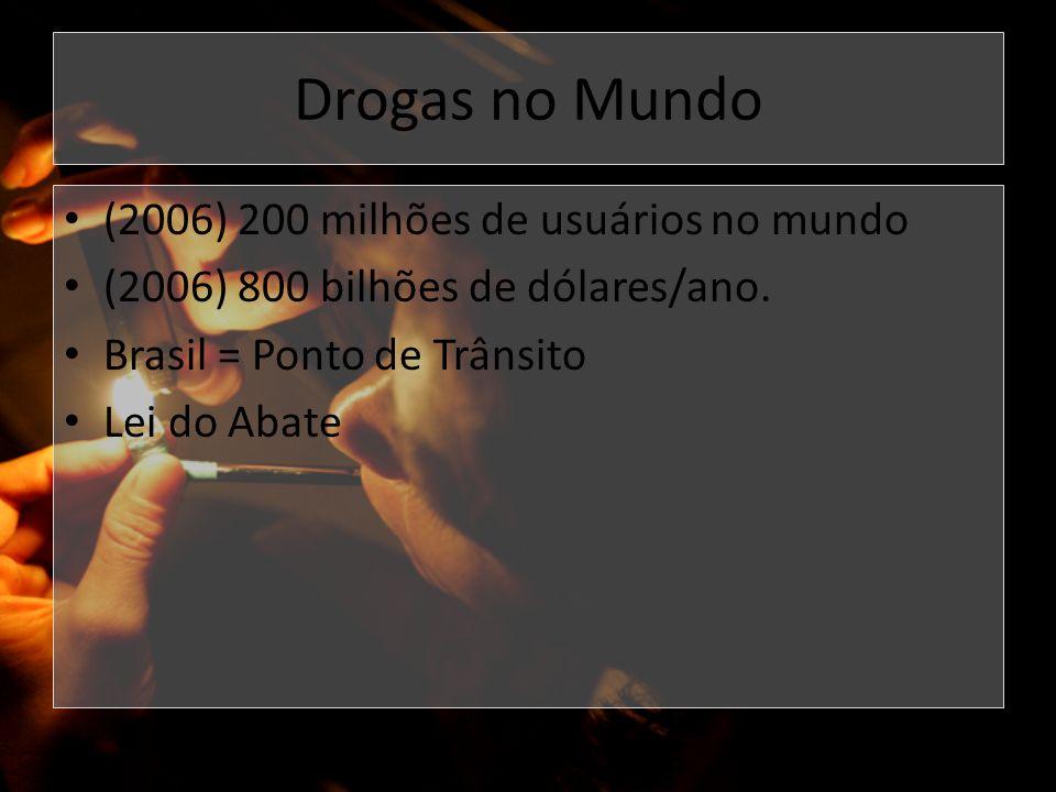 Drogas no Mundo (2006) 200 milhões de usuários no mundo