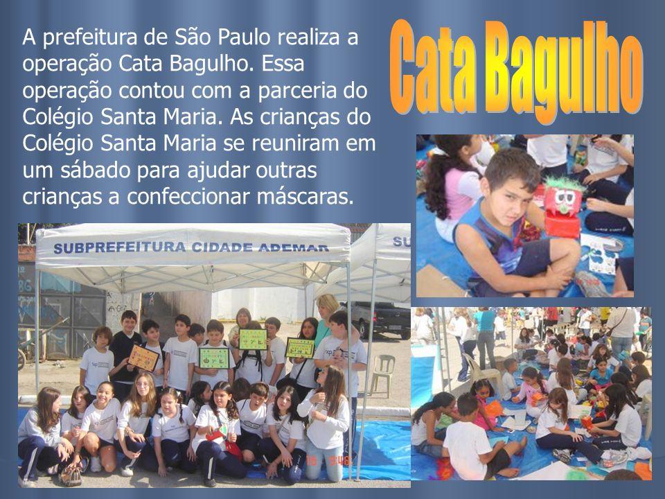 A prefeitura de São Paulo realiza a operação Cata Bagulho