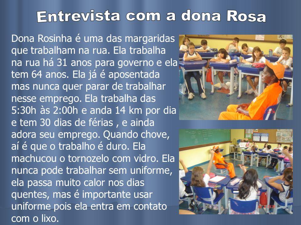 Entrevista com a dona Rosa