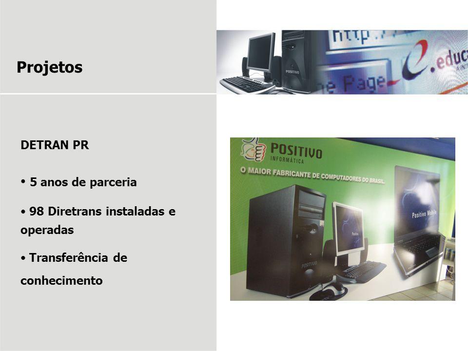Projetos 5 anos de parceria DETRAN PR