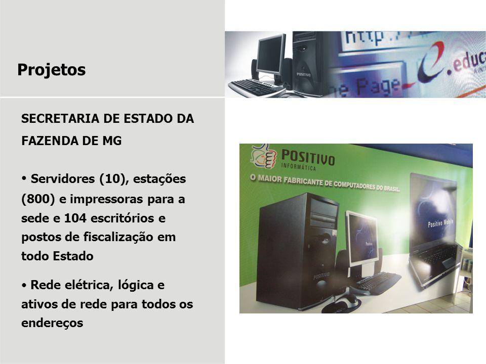 Projetos SECRETARIA DE ESTADO DA FAZENDA DE MG.