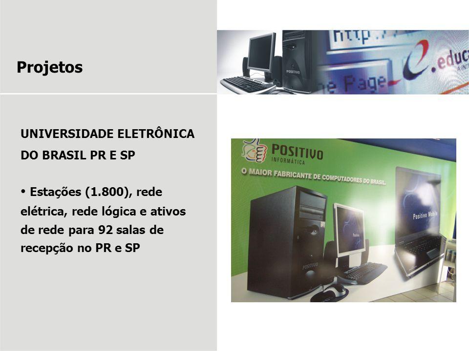 Projetos UNIVERSIDADE ELETRÔNICA DO BRASIL PR E SP.