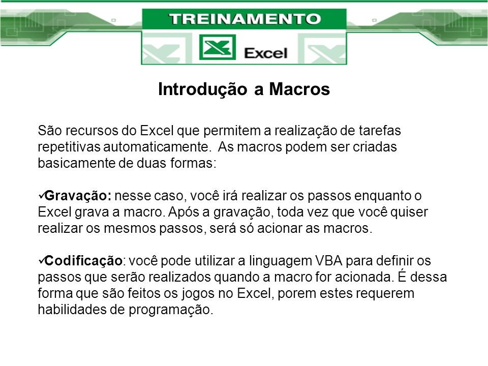 Introdução a Macros