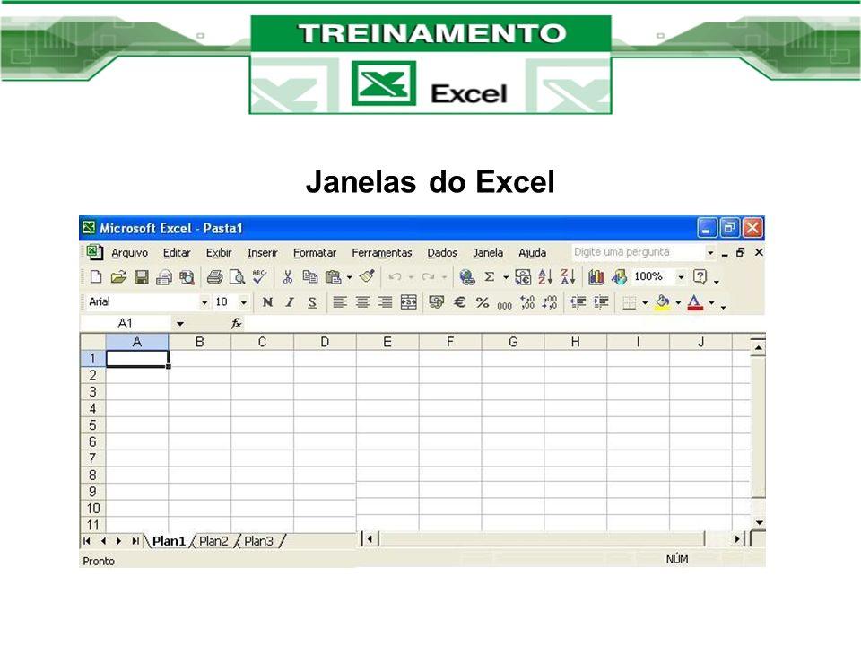Janelas do Excel Conteúdo do primeiro dia