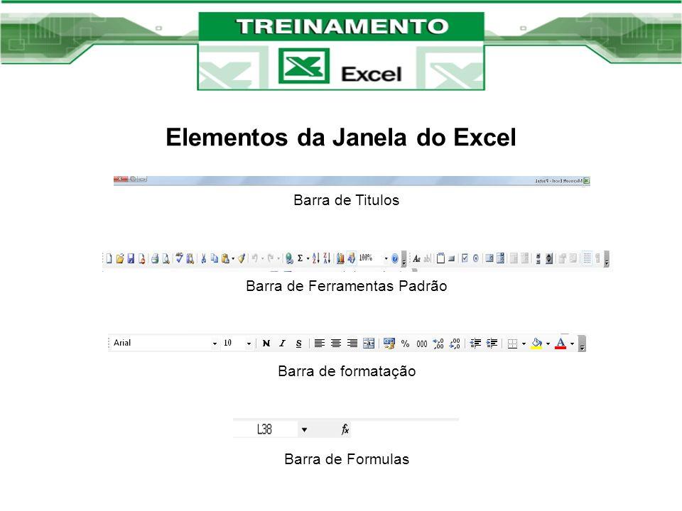 Elementos da Janela do Excel