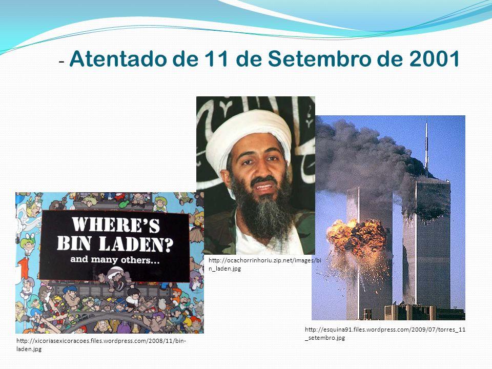- Atentado de 11 de Setembro de 2001