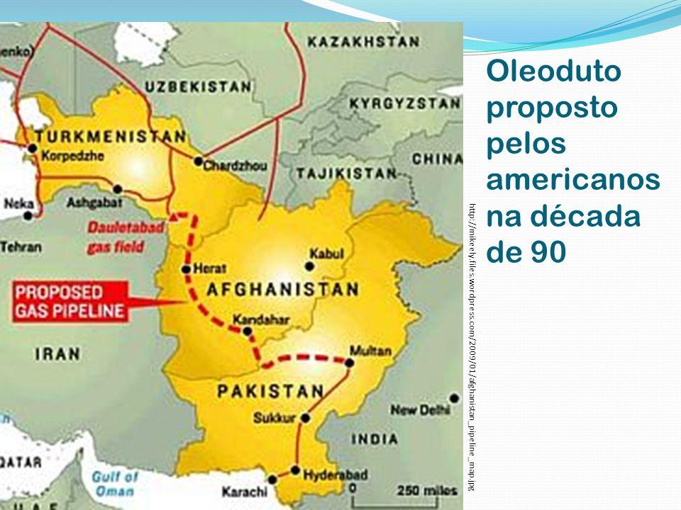 Oleoduto proposto pelos americanos na década de 90