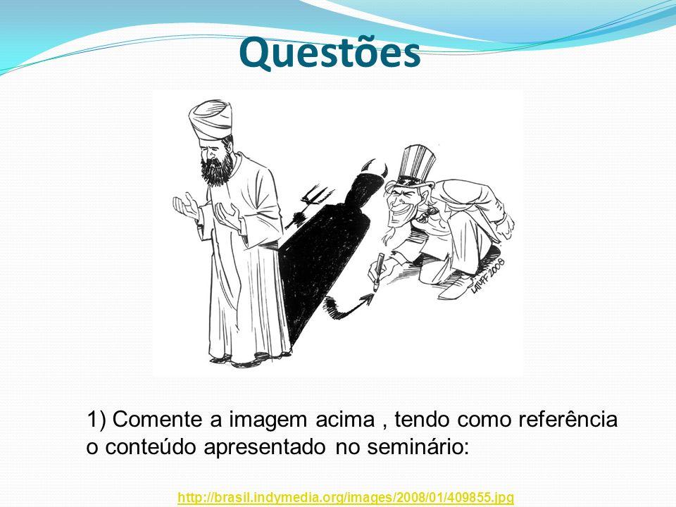 Questões 1) Comente a imagem acima , tendo como referência o conteúdo apresentado no seminário: