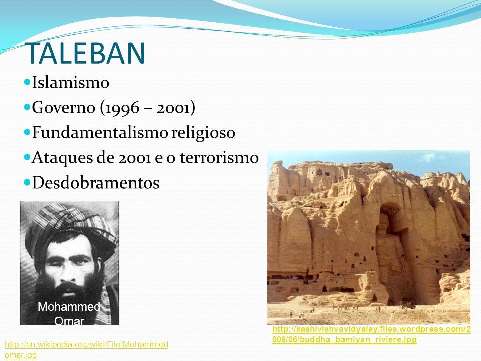 TALEBAN Islamismo Governo (1996 – 2001) Fundamentalismo religioso